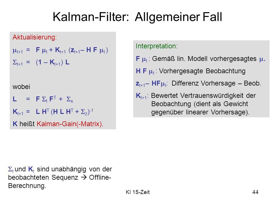 Kalman-Filter: Allgemeiner Fall