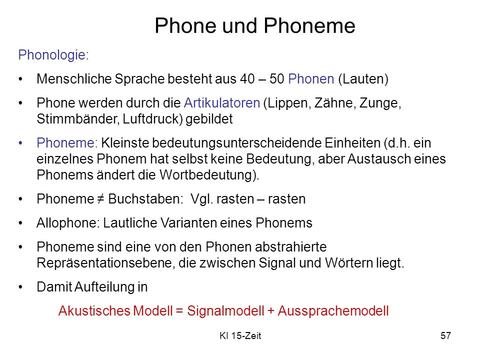 Phone und Phoneme Phonologie: