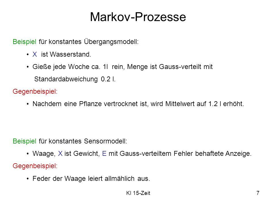 Markov-Prozesse Beispiel für konstantes Übergangsmodell: