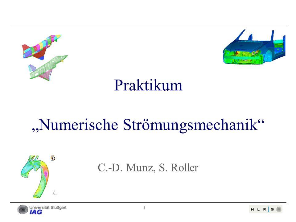 """Praktikum """"Numerische Strömungsmechanik C.-D. Munz, S. Roller"""