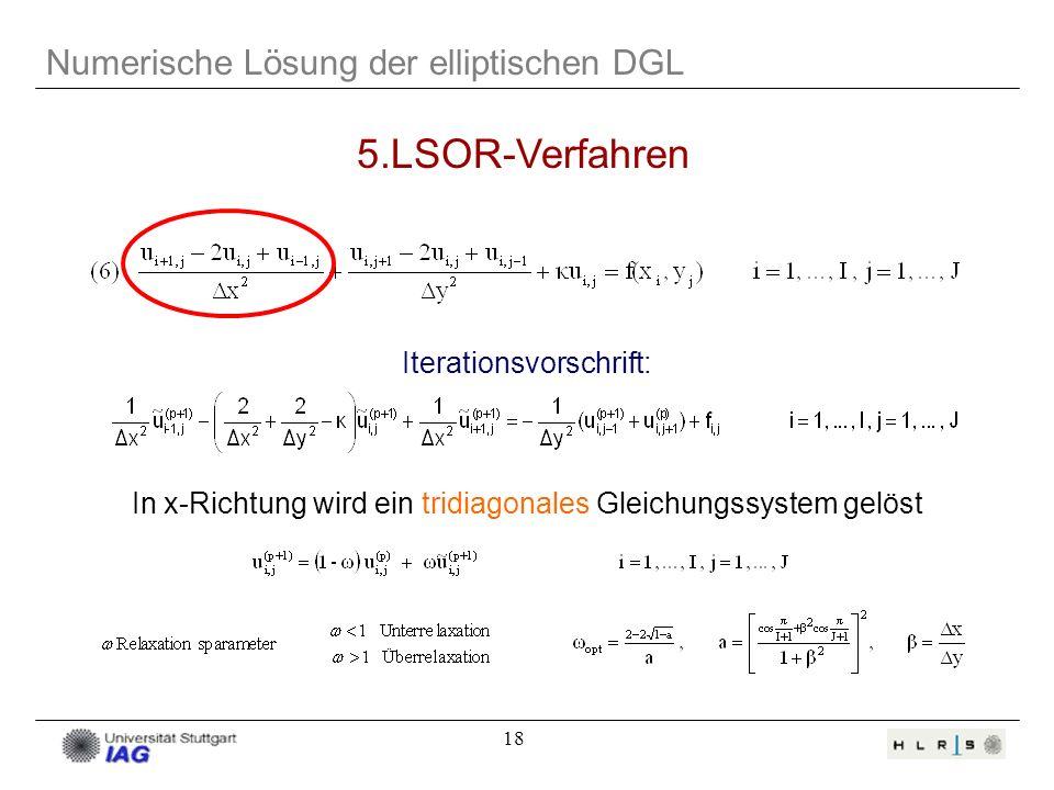 5.LSOR-Verfahren Numerische Lösung der elliptischen DGL