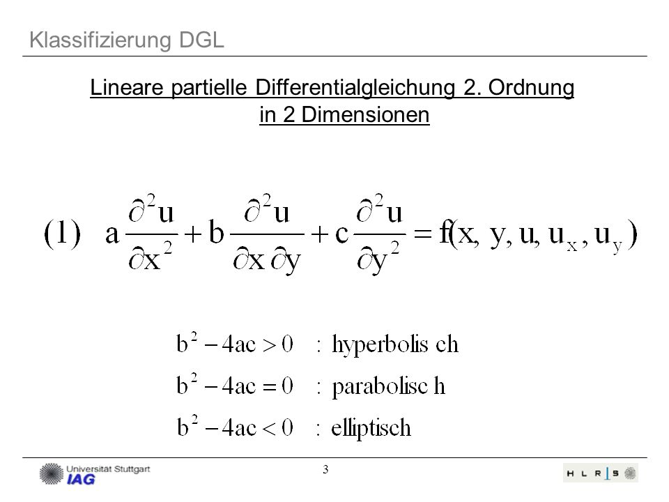 Lineare partielle Differentialgleichung 2. Ordnung in 2 Dimensionen