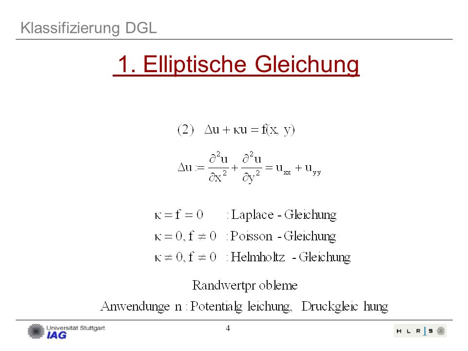 1. Elliptische Gleichung