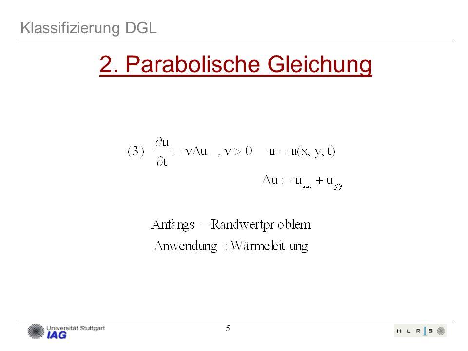 2. Parabolische Gleichung