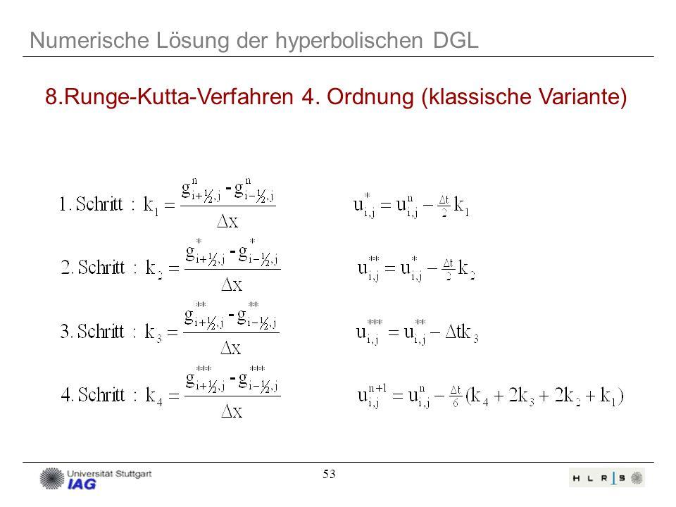8.Runge-Kutta-Verfahren 4. Ordnung (klassische Variante)