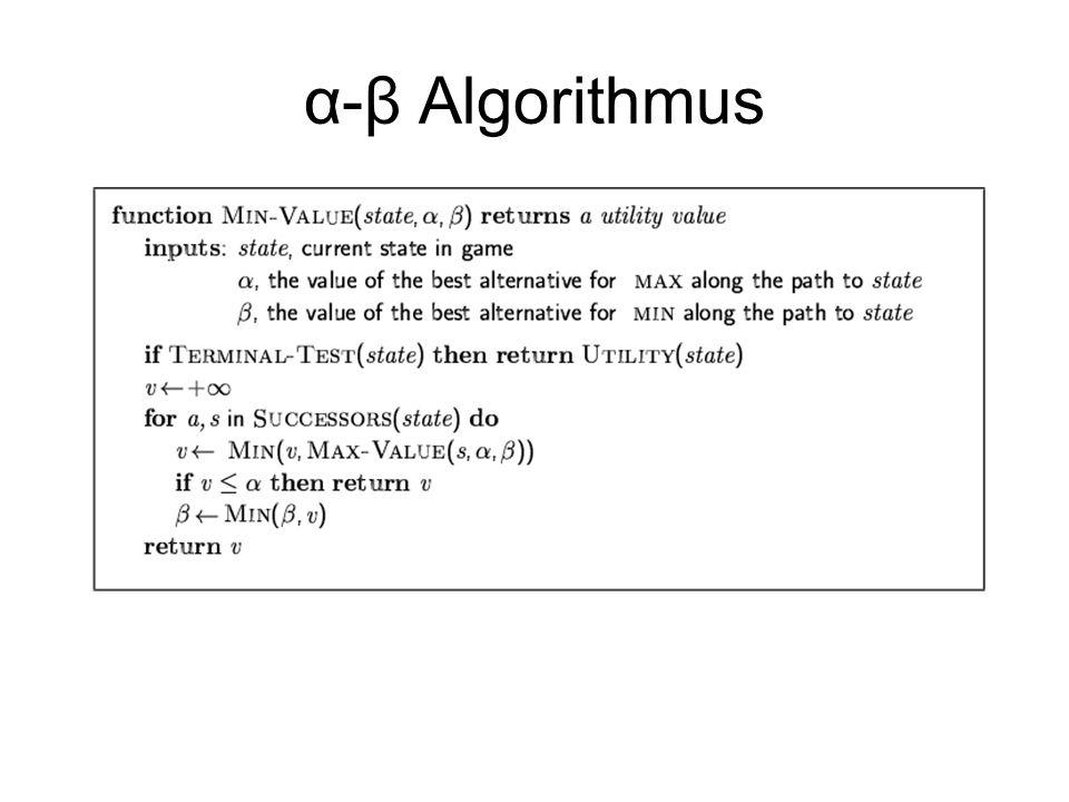 α-β Algorithmus