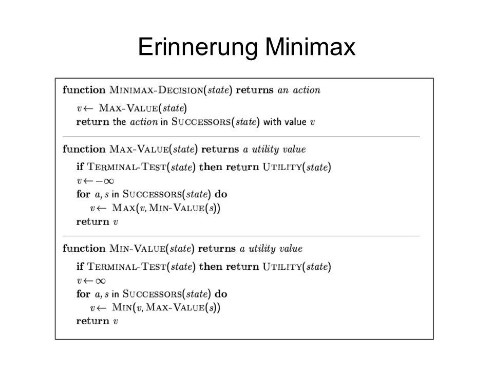 Erinnerung Minimax