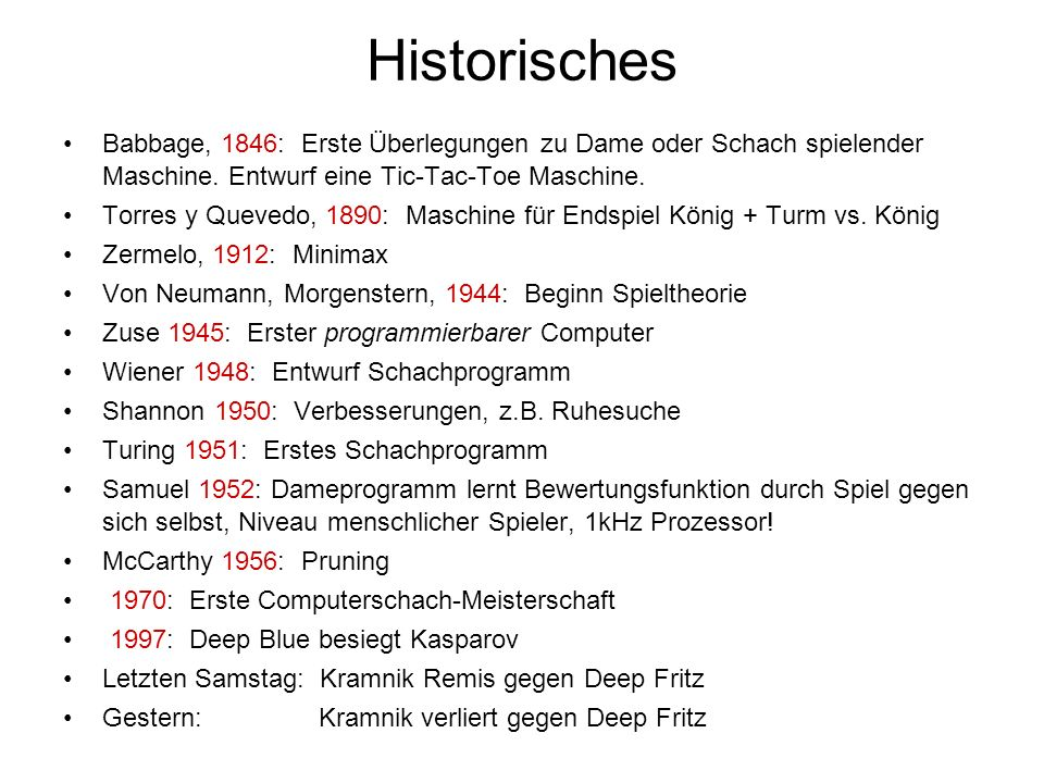 HistorischesBabbage, 1846: Erste Überlegungen zu Dame oder Schach spielender Maschine. Entwurf eine Tic-Tac-Toe Maschine.