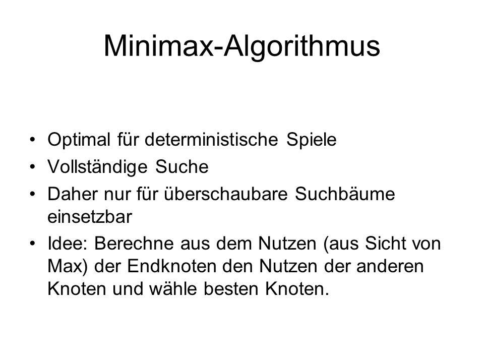 Minimax-Algorithmus Optimal für deterministische Spiele