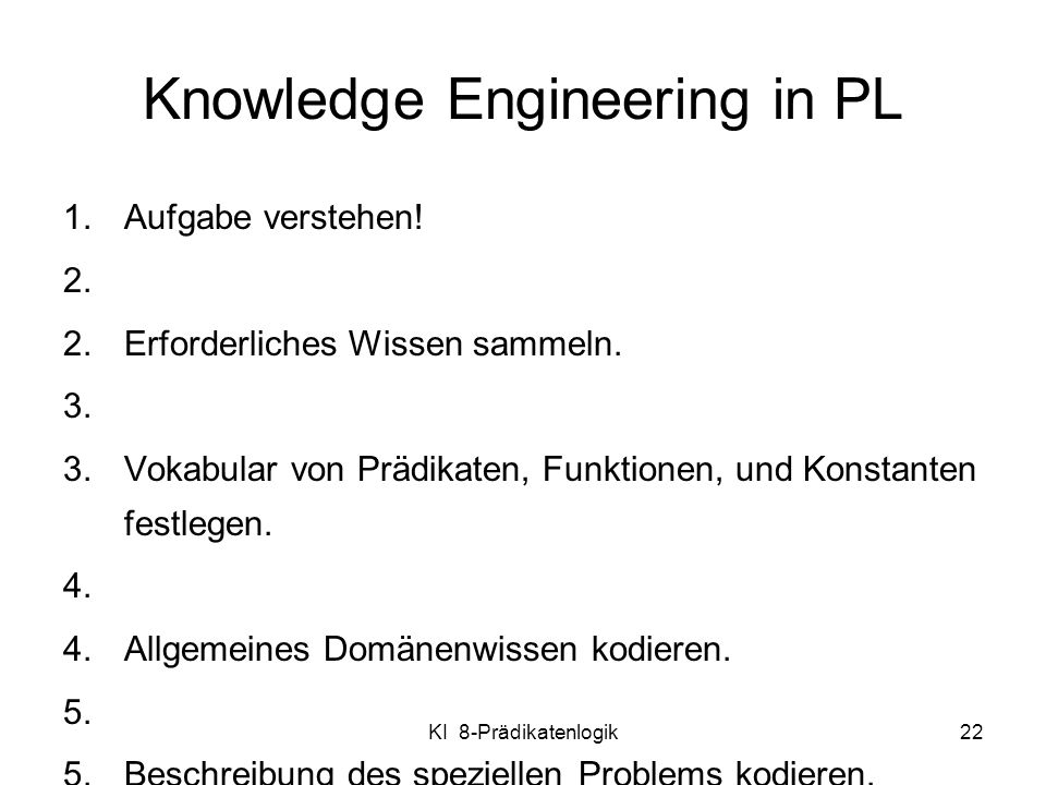 Knowledge Engineering in PL