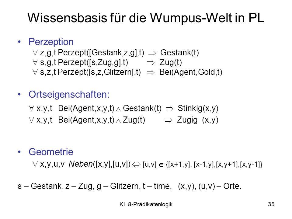 Wissensbasis für die Wumpus-Welt in PL