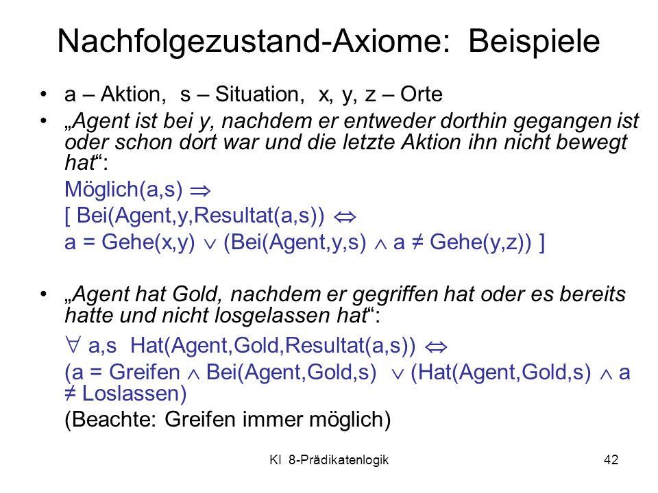 Nachfolgezustand-Axiome: Beispiele