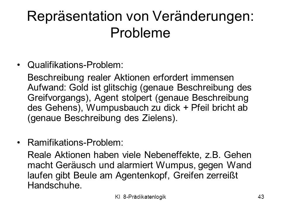 Repräsentation von Veränderungen: Probleme