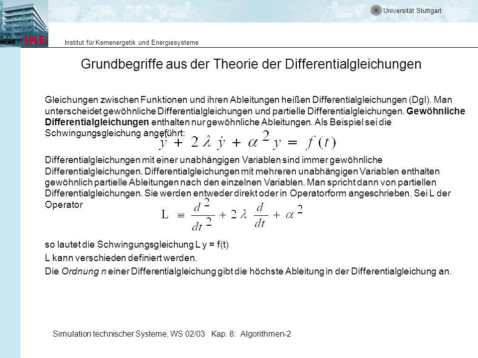 Grundbegriffe aus der Theorie der Differentialgleichungen