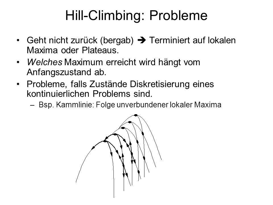 Hill-Climbing: Probleme