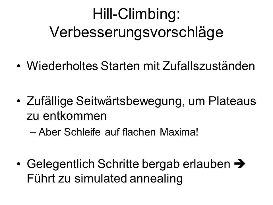 Hill-Climbing: Verbesserungsvorschläge