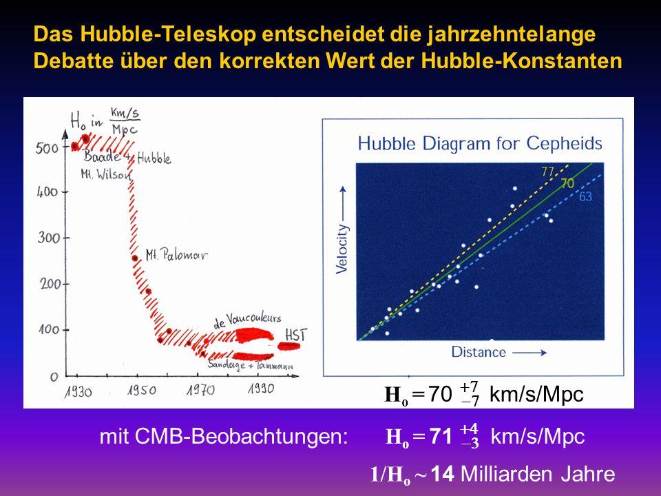 Das Hubble-Teleskop entscheidet die jahrzehntelange