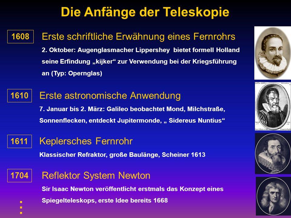 ... Die Anfänge der Teleskopie