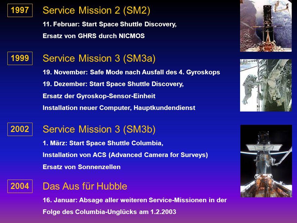 Service Mission 2 (SM2) Service Mission 3 (SM3a)
