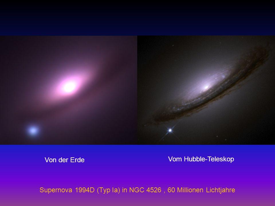 Von der Erde Vom Hubble-Teleskop Supernova 1994D (Typ Ia) in NGC 4526 , 60 Millionen Lichtjahre