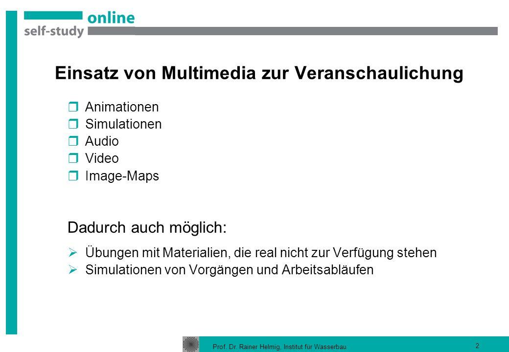 Einsatz von Multimedia zur Veranschaulichung
