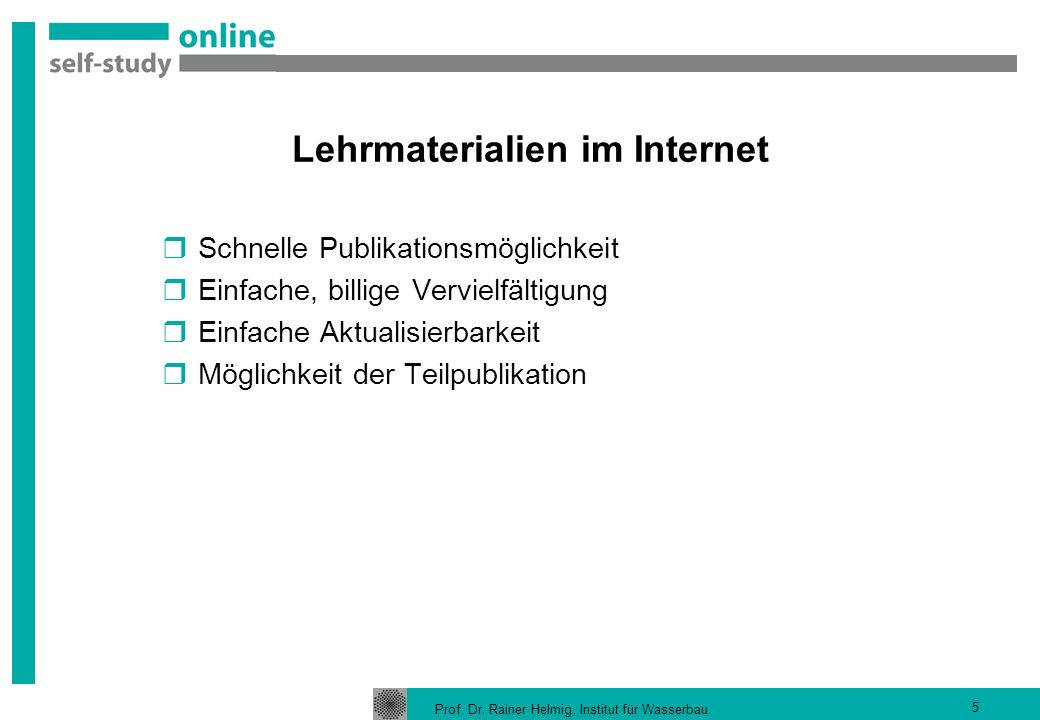 Lehrmaterialien im Internet