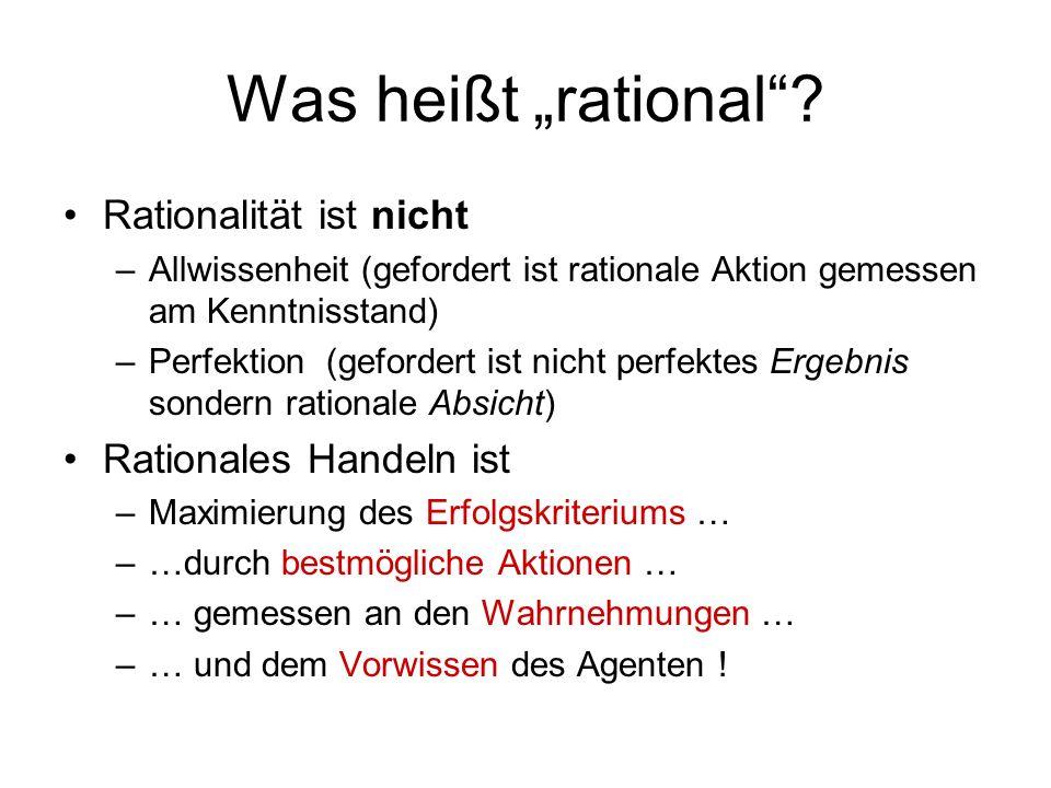 """Was heißt """"rational Rationalität ist nicht Rationales Handeln ist"""