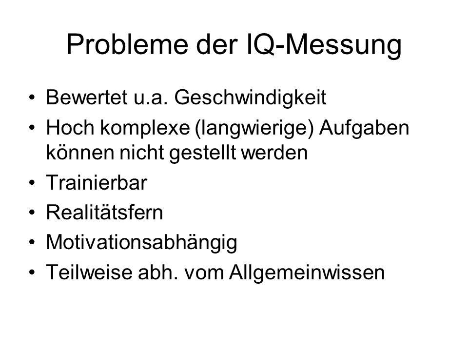 Probleme der IQ-Messung