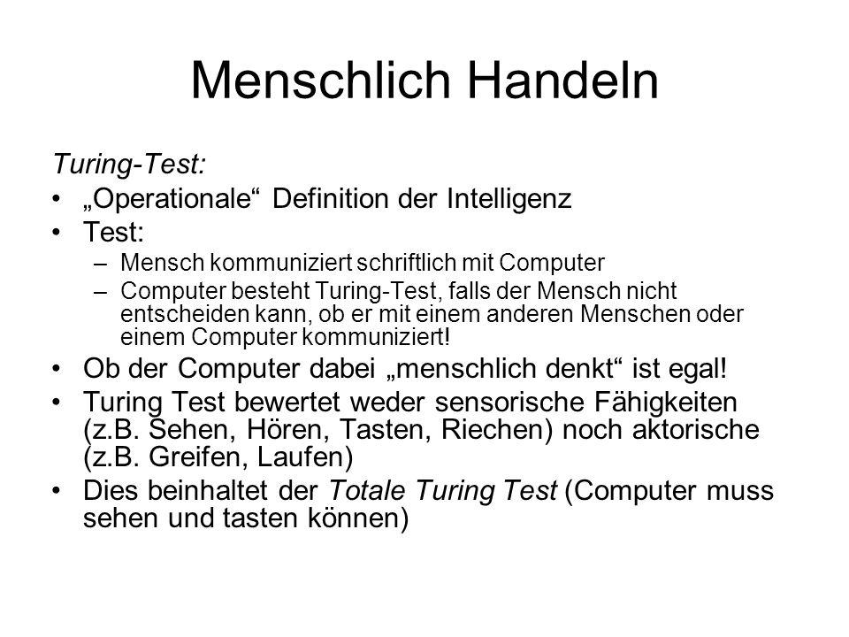 Menschlich Handeln Turing-Test: