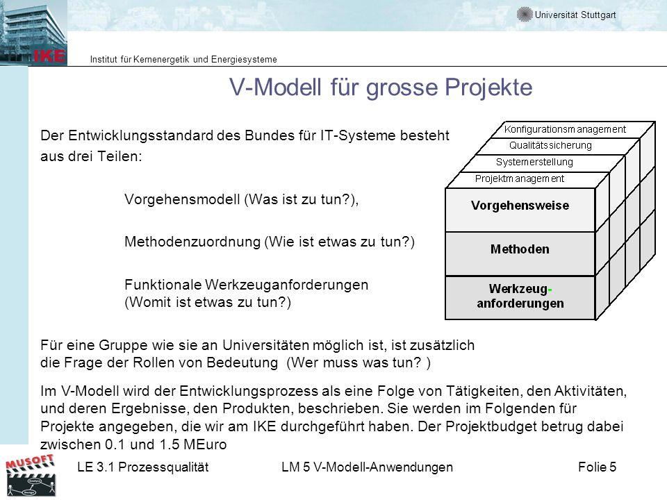 V-Modell für grosse Projekte