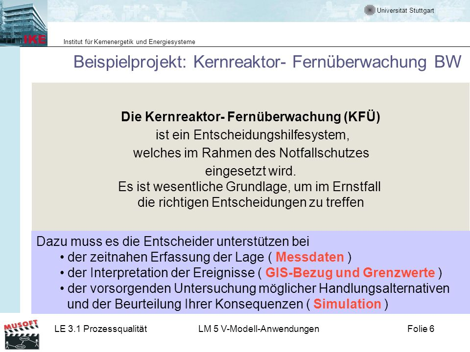 Beispielprojekt: Kernreaktor- Fernüberwachung BW