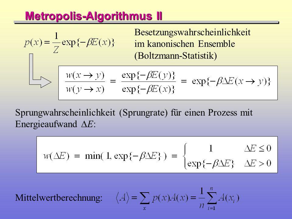 Metropolis-Algorithmus II
