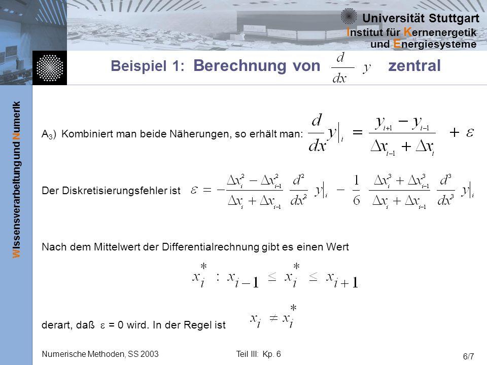 Beispiel 1: Berechnung von zentral