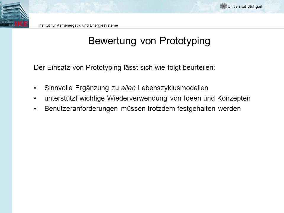 Bewertung von Prototyping