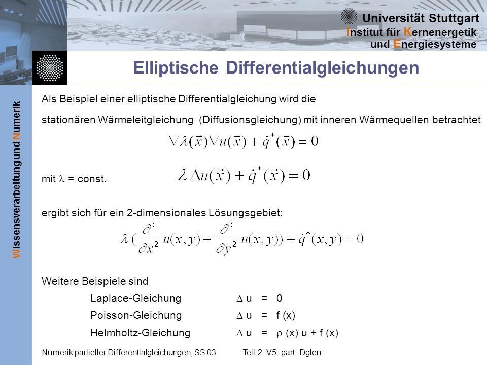 Elliptische Differentialgleichungen