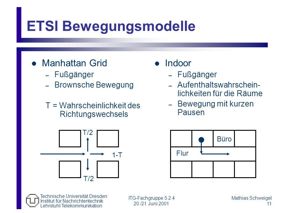 ETSI Bewegungsmodelle
