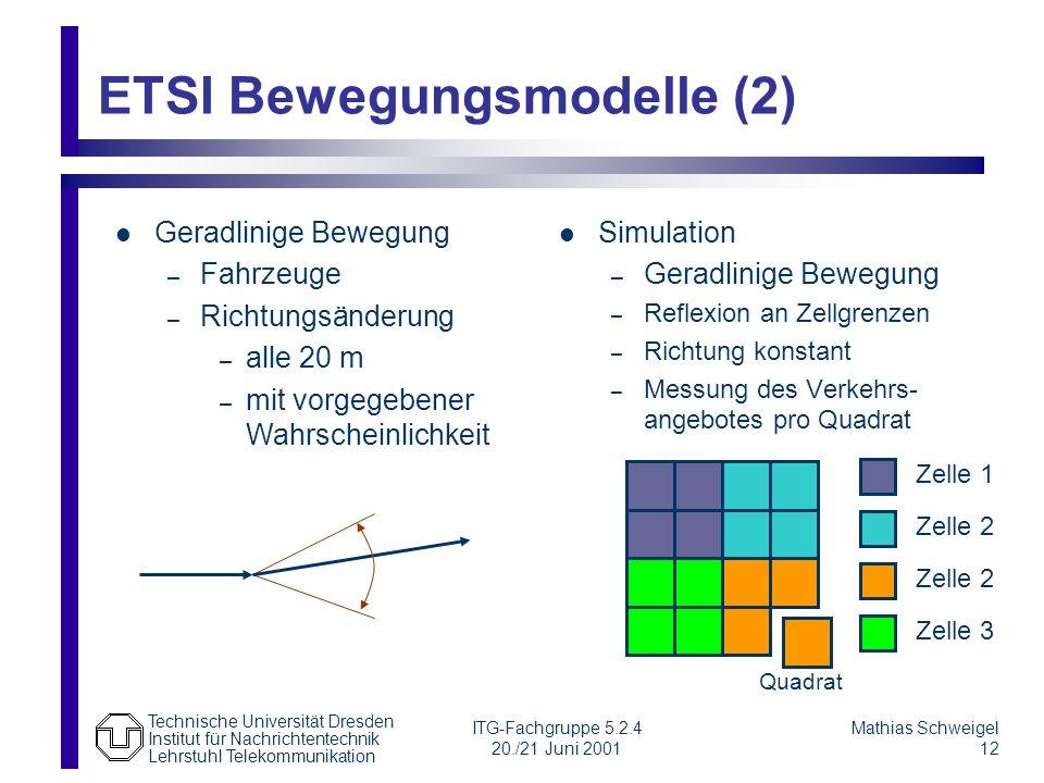 ETSI Bewegungsmodelle (2)