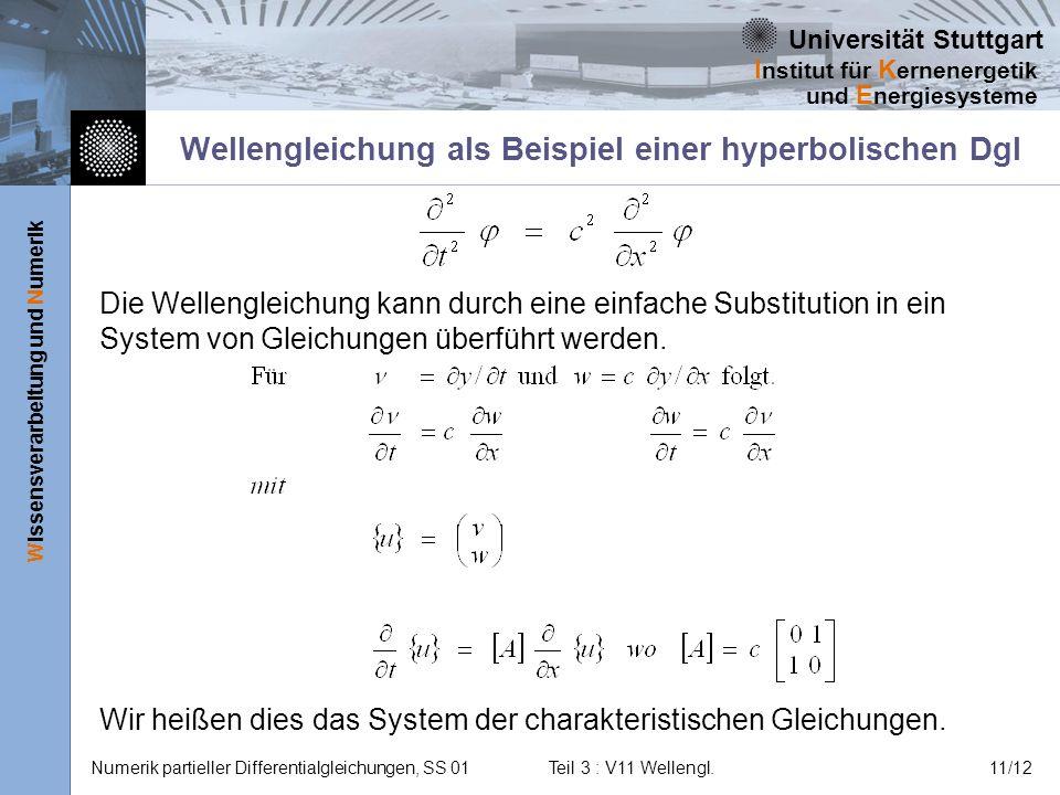 Wellengleichung als Beispiel einer hyperbolischen Dgl