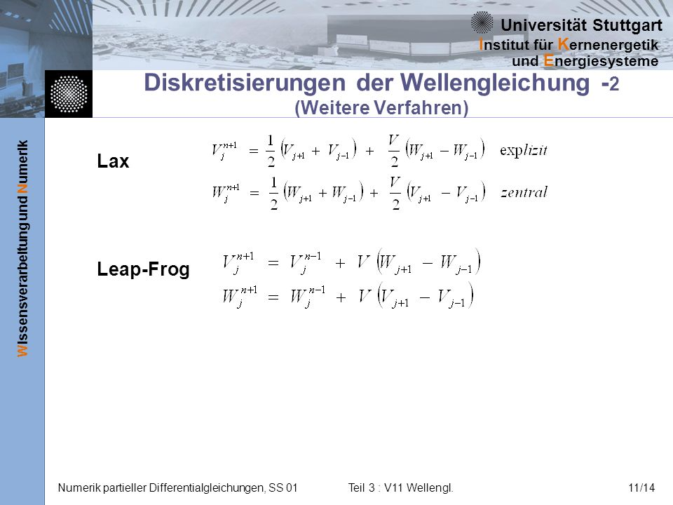 Diskretisierungen der Wellengleichung -2 (Weitere Verfahren)
