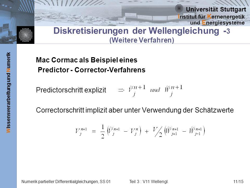 Diskretisierungen der Wellengleichung -3 (Weitere Verfahren)
