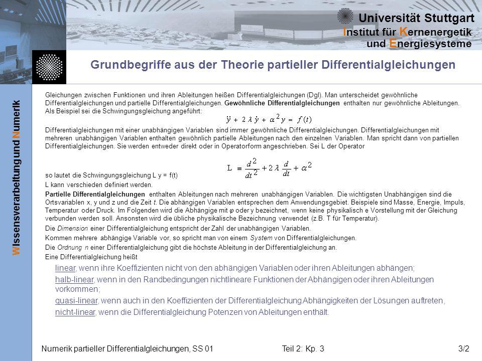 Grundbegriffe aus der Theorie partieller Differentialgleichungen