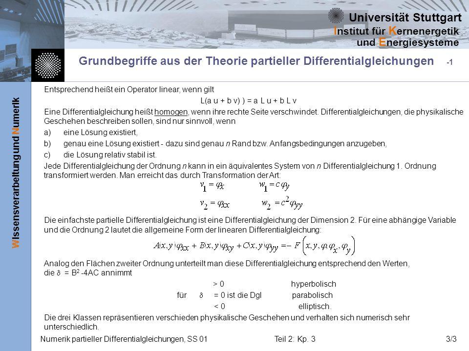 Grundbegriffe aus der Theorie partieller Differentialgleichungen -1