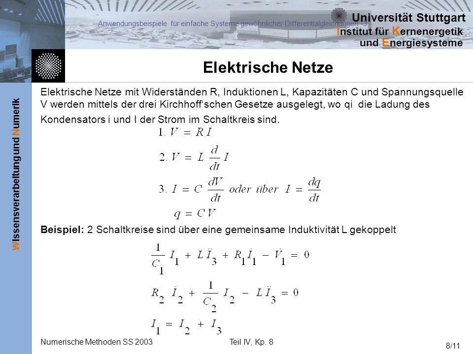 Anwendungsbeispiele für einfache Systeme gewöhnlicher Differentialgleichungen -3