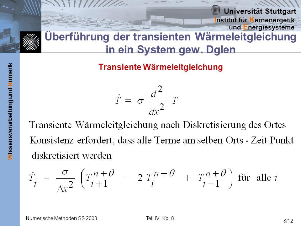 Transiente Wärmeleitgleichung