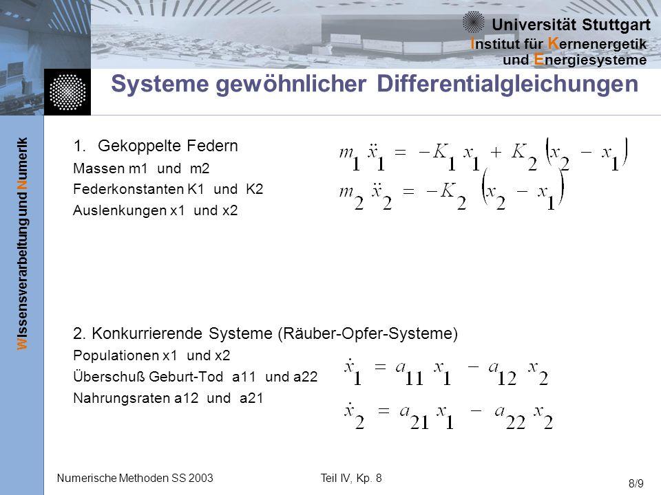 Systeme gewöhnlicher Differentialgleichungen