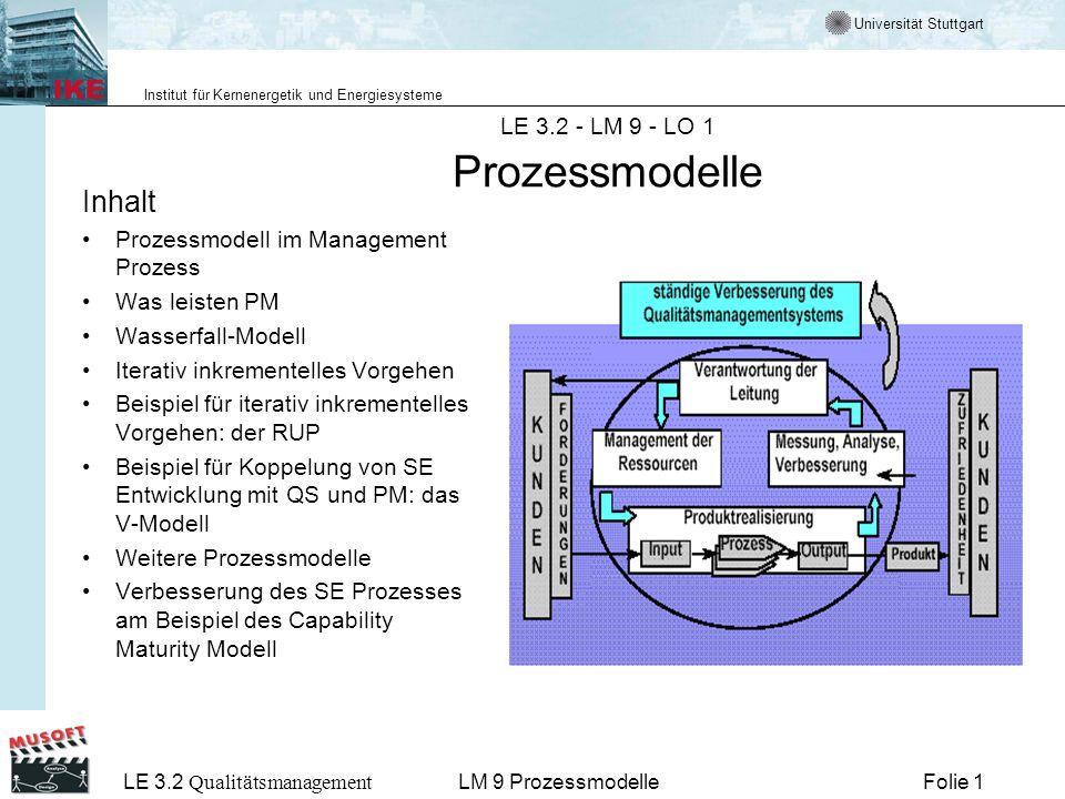 LE 3.2 - LM 9 - LO 1 Prozessmodelle