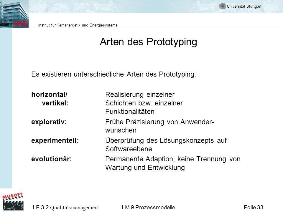 Arten des Prototyping Es existieren unterschiedliche Arten des Prototyping: