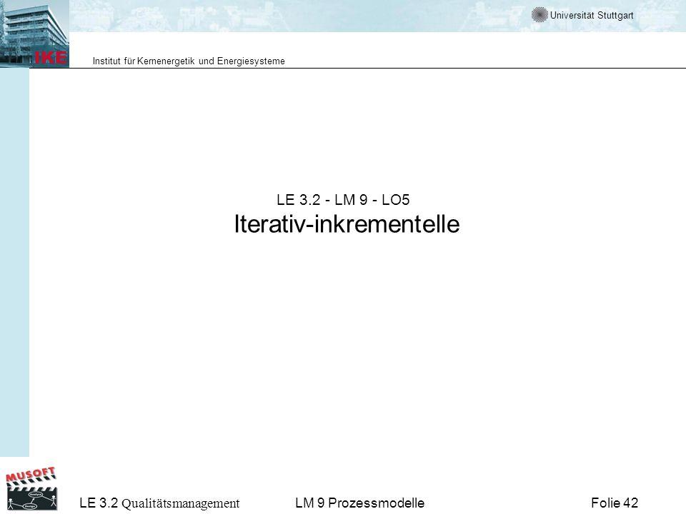 LE 3.2 - LM 9 - LO5 Iterativ-inkrementelle
