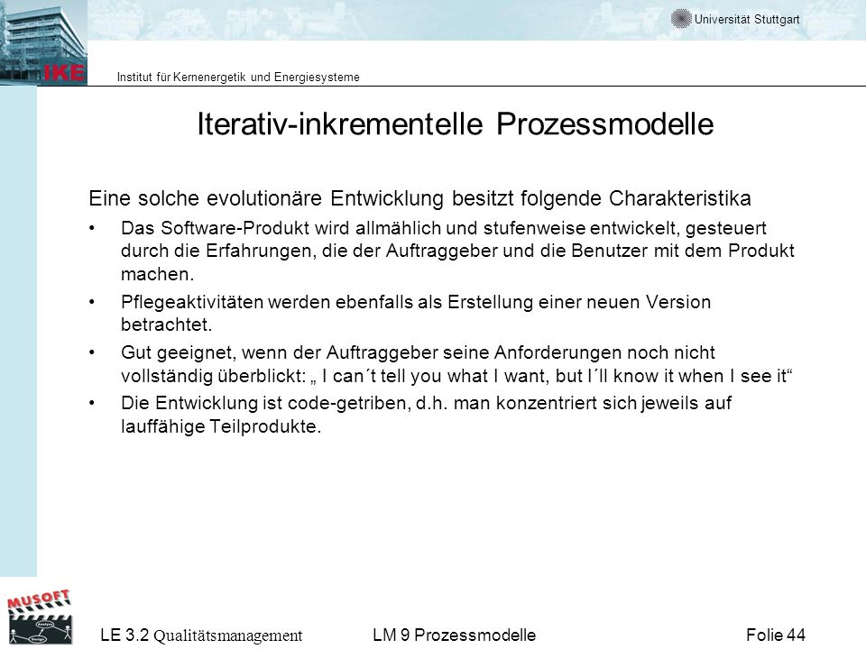 Iterativ-inkrementelle Prozessmodelle