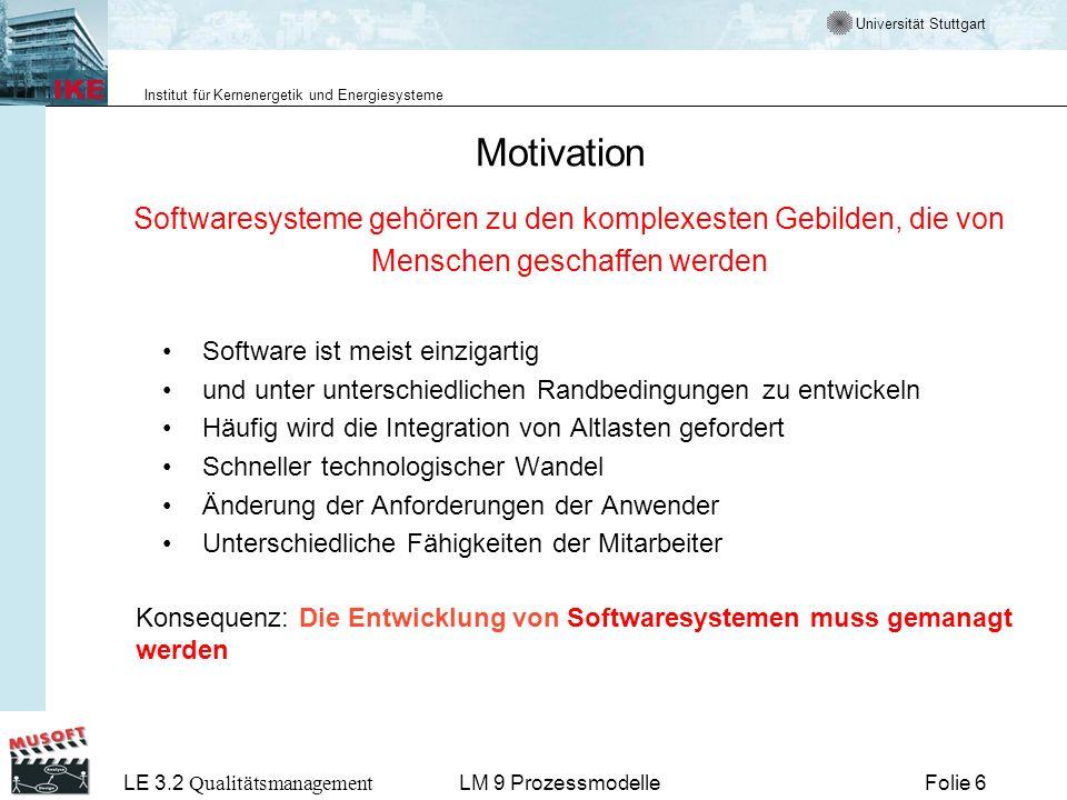 Motivation Softwaresysteme gehören zu den komplexesten Gebilden, die von Menschen geschaffen werden.